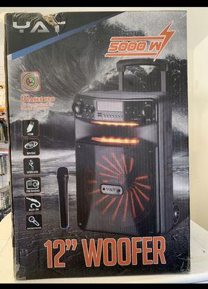 "Bluetooth Speaker Karaoke Microphone 12"" Sub - Mobile Karaoke , Mp3 FM Radio for Sale in Westminster, CA"
