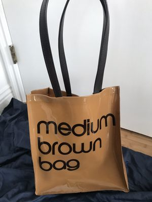 "0e67540faa8f Plastic Bloomingdales ""medium brown bad"" shopping tote for Sale in  Cerritos"