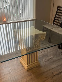 Dining Room Table $50 Also 6 Chairs Free! for Sale in Dayton,  OR
