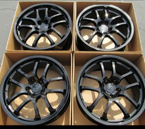 """19"""" Infiniti g35 wheels new gloss black g37 coupe for Sale in Tustin, CA"""