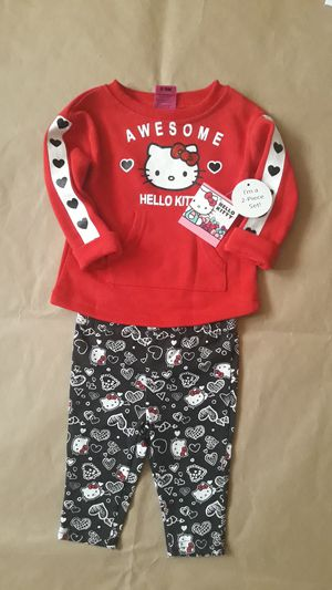 Girls Awesome hello kitty 2pcs top+pant sz 6/9M for Sale in Fort Worth, TX