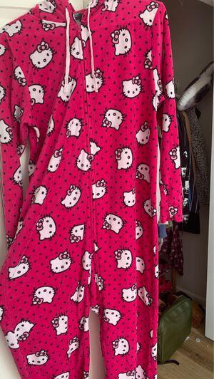 Hello Kitty onesie footie pajama, adult Medium for Sale in Enterprise, AL
