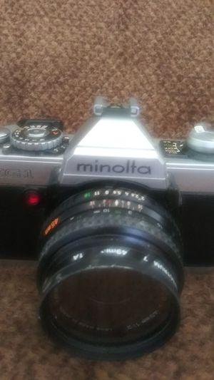 Minolta film camera 50mm lens for Sale in Baltimore, MD