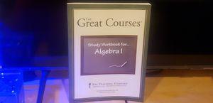Great Course 3 volume Dvd set Algebra 1 with study workbook for Sale in Garden Grove, CA