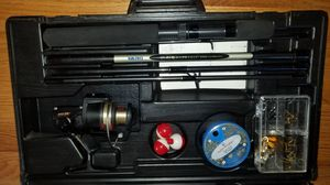DONT YOU WISH YOU COULD GO FISHING SATURDAY? MAKE IT REAL!!! COMPLETE FISHING CASE W ROD REEL AND LURES PLUS EVTHING ELSE!!! for Sale in Monterey Park, CA