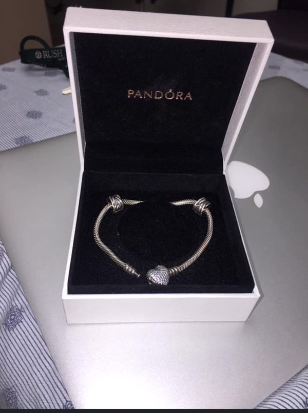 Sparkling Heart & Snake Bracelet PANDORA