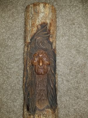 Hand carved indian, native America with free DELIVERY for Sale in Hudson, FL