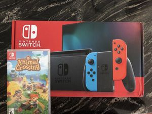 Brand New Nintendo Switch & Animal Crossing new horizons bundle for Sale in Tampa, FL