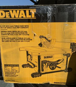 "New, Dewalt 8-1/4"" compact job site table saw DWE7485 for Sale in West Valley City, UT"