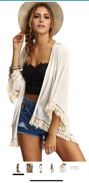 Women fringe cardigan beach wear cover up - new for Sale in San Francisco, CA