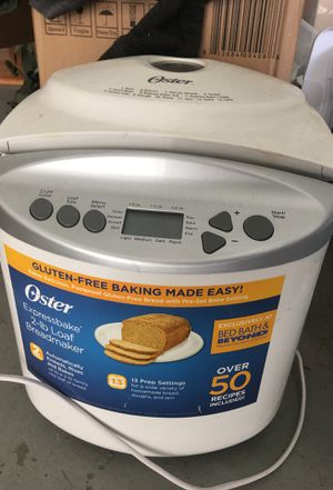 Oster® Expressbake Bread Maker with Gluten-Free Setting in White for Sale in Carson, CA