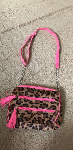 Pink and black leopard print crossbody bag for Sale in Bristow, VA