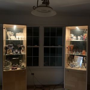 2 Glass Shelf Cabinet With Light for Sale in Elgin, IL