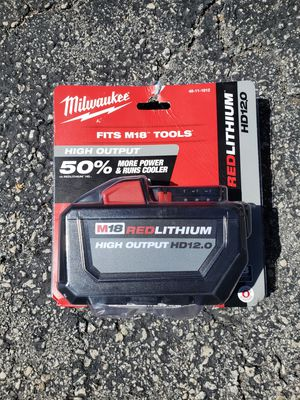 Milwaukee M18 Battery 12.0Ah High Output for Sale in Lighthouse Point, FL