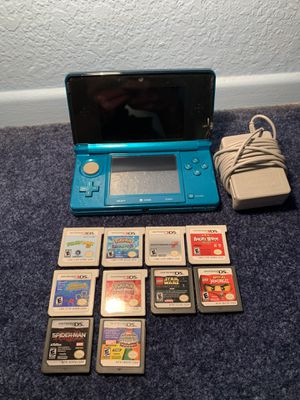 Nintendo 3DS + 10 Games for Sale in Montclair, CA