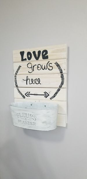 Farmhouse wood sign/ succulent planter for Sale in Leominster, MA