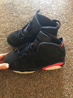 Nike Jordan's retro 6 black and cement red $70 dollars worn 3 times for Sale in Jupiter, FL