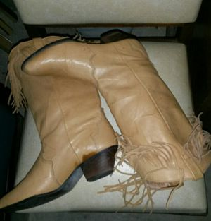 soft genuine leather boots 6.5 for Sale in Tioga, TX