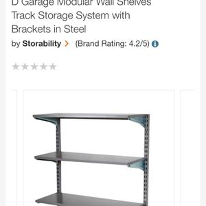Wall Shelves Track Storage System with Brackets for Sale in Bakersfield, CA