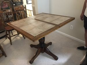 Kitchen table with leaf and 4 chairs for Sale in Chesapeake, VA