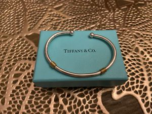 Tiffany & Company Rare Silver & 18k gold Coil Bracelet for Sale in Chandler, AZ