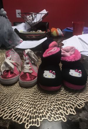 gentely used Hello Kitty themed sneakers and boots sizes 7-8 for Sale in Nashville, TN