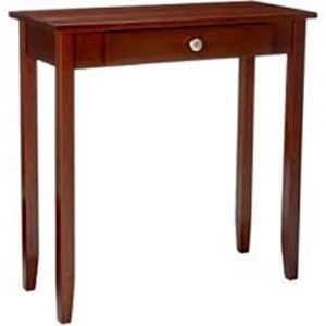 Rosewood Console Table, Coffee Brown description:Medium coffee finish Solid wood and wood veneer construction Easy to assemble Accent console table P for Sale in Houston, TX