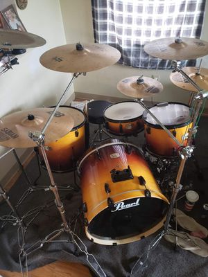 Pearl drum set with double bass pedals for Sale in Bellefontaine, OH