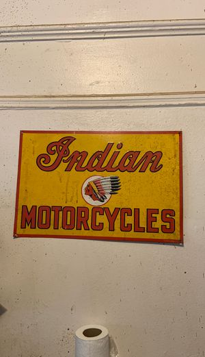 Indian motorcycle sign for Sale in The Bronx, NY