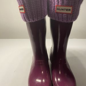 Girl Hunter Rain Boots With Boot Socks for Sale in Southborough, MA