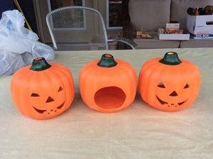 Ceramic Pumpkins, 3 for Sale in Virginia Beach, VA