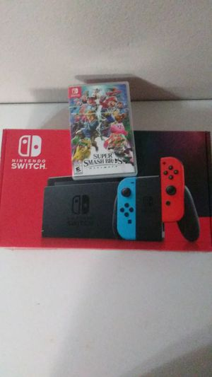 Nintendo switch v2 with smash bros for Sale in Phoenix, AZ