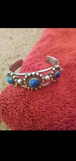 Silver Turquoise bangle 925 for Sale in Phoenix, AZ
