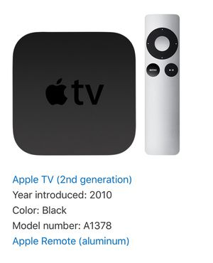 Apple TV 2nd Generation with Cable and Control for Sale in Pembroke Pines, FL