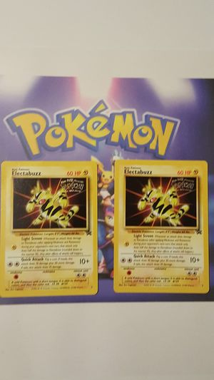 👣Pokemon cards💥WotC Black Star Promo 💥2 ELECTABUZZ #2💥 👣 for Sale in Falls Church, VA