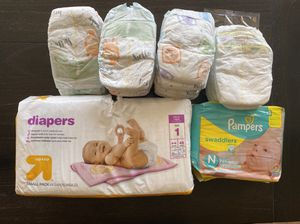 Newborn and Size 1 Diaper Lot for Sale in Glendale, AZ