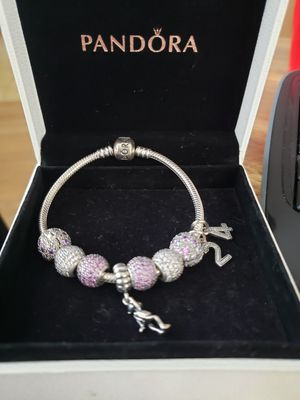 Pandora bracelet with charms for Sale in Romeoville, IL