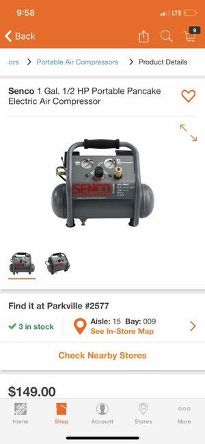 Senco air compressor for Sale in Baltimore, MD