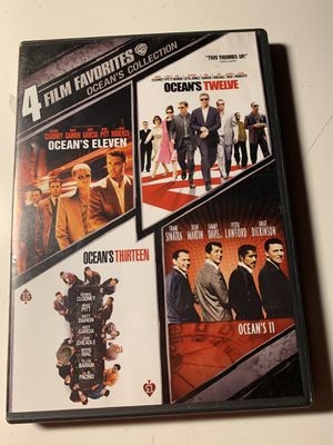 Ocean's 11,12&13 ,classic 11 , 4 DVD set for Sale in Stockton, CA