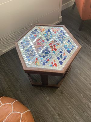 Solid wood mosaic table for Sale in Portland, OR