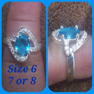 Sterling silver & topaz. Sz 6,7 & 8 for Sale in Glen Burnie, MD