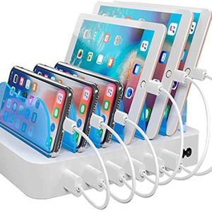 Hercules Tuff Charging Station for Multiple Devices, with 6 USB Fast Ports and 6 Short USB Cables, White for Sale in Paradise Valley, AZ