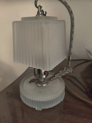 Vintage art deco frosted lamp for Sale in Cross Plains, WI