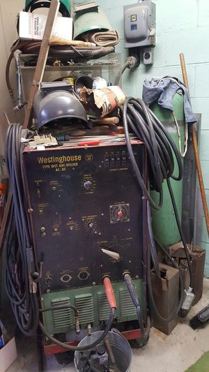 Westinghouse house Arc, Mig welder. 220 or 440 industrial welder with 100lb of Argon gas and hundreds of welding sticks for Sale in Plum, PA