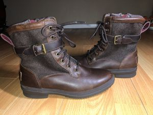 Ugg Womens Kesey Leather Boots Wool Blend Chestnut (SIZE 7) for Sale in Zephyrhills, FL