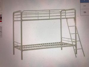 Twin Metal Bunk Bed White for kids guests bedroom Furniture Space saving design for Sale in Riviera Beach, FL