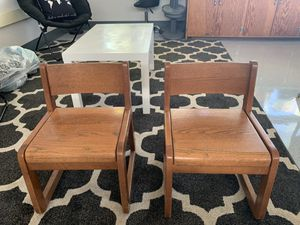 Kid Wooden Chairs for Sale in Redwood City, CA