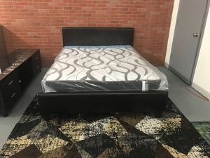 Queen bed frame + Mattress// Financing Available for Sale in Miami, FL