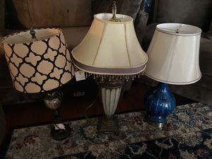 3 antique table lamps for Sale in Las Vegas, NV