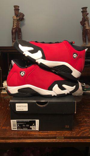 Air Jordan 14 Retro Toro Red GS Grade School Size 7 for Sale in Kensington, MD